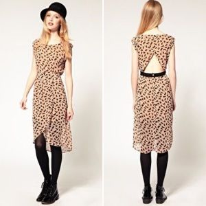 ASOS Dahlia Cat Print Dress